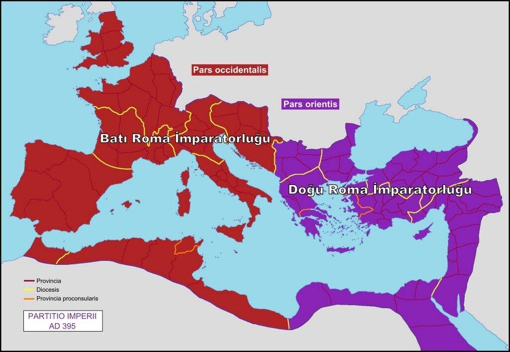 Batı Roma ve Doğu Roma
